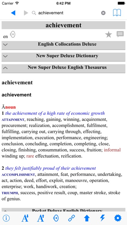 New Deluxe Dictionary Thesaurus Collocations screenshot-4