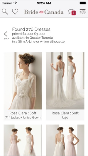 Bride.Canada Wedding Dress Finder on the App Store
