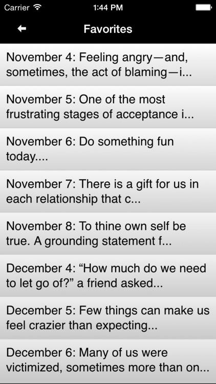 Language of Letting Go: Codependency Meditations screenshot-3