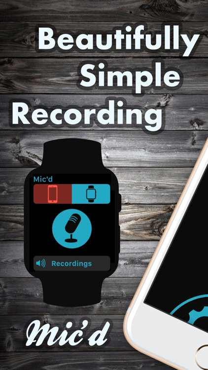 Mic'd -  Beautifully simple recording screenshot-0