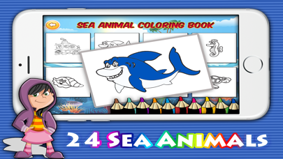 Ocean sea coloring pages :Game for Toddler & Kids