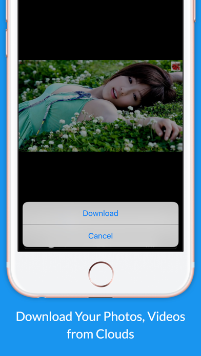Video Vault & Photo Downloader for Private Cloud Screenshot on iOS
