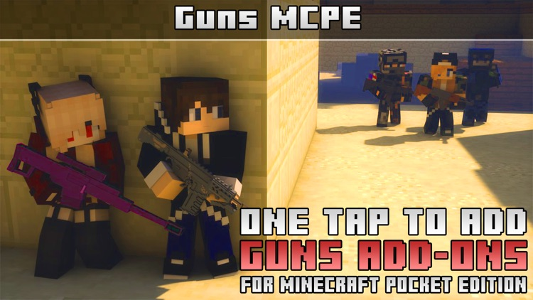 Guns Addons Maps for Minecraft Pocket Edition PE