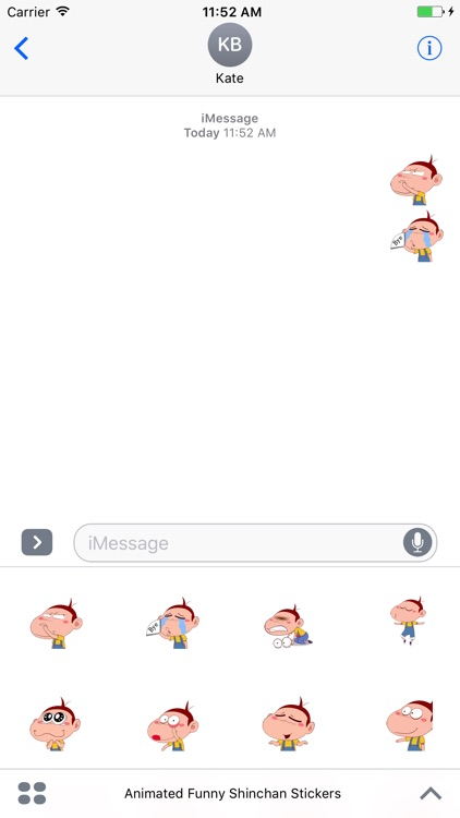 Animated Funny Face Stickers For iMessage