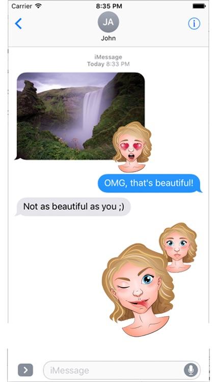Blonde Emoji Set GeeMoji