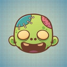 Sticker Me Zombie Boy