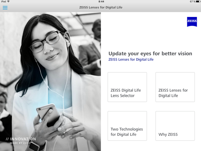 ZEISS Lenses for Digital Life on the App Store 4080af1318