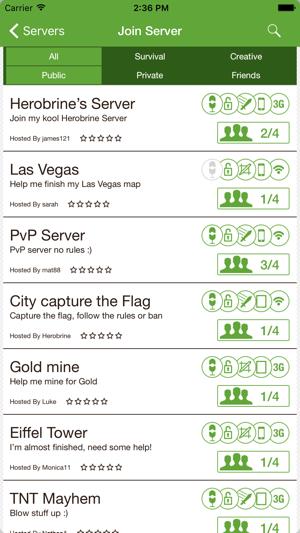Multiplayer For Minecraft PE Im App Store - Minecraft pe server erstellen ipad