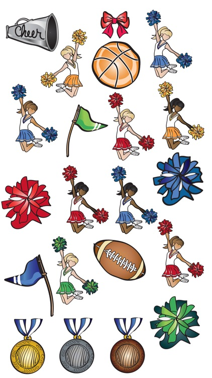 Cheerleading Stickers and Emojis