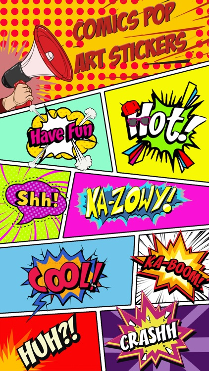 Comics Pop Art Stickers screenshot-0