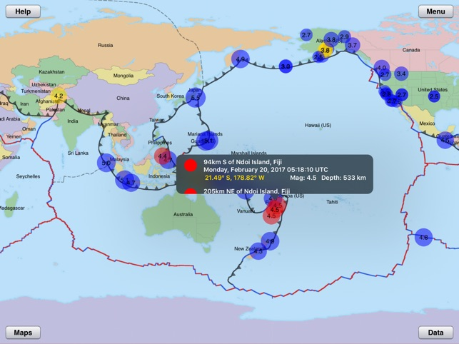 Focus on earthquakes on the app store gumiabroncs Image collections