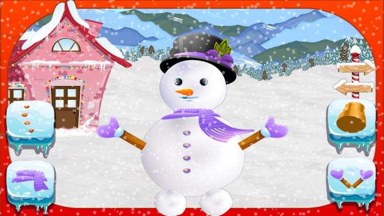 Snowman Maker & Dress Up Salon - Makeover Game screenshot-3