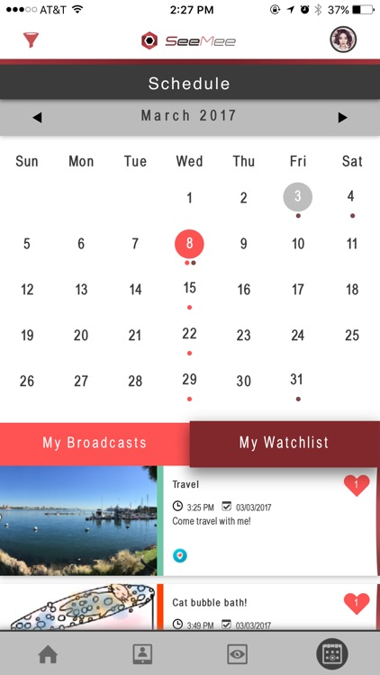 SeeMee - THE Schedule for Live Video Streaming screenshot-4