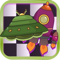Checker Board Spaceship Puzzle Style Pro