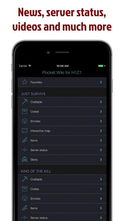 Pocket Wiki for H1Z1 screenshot-4
