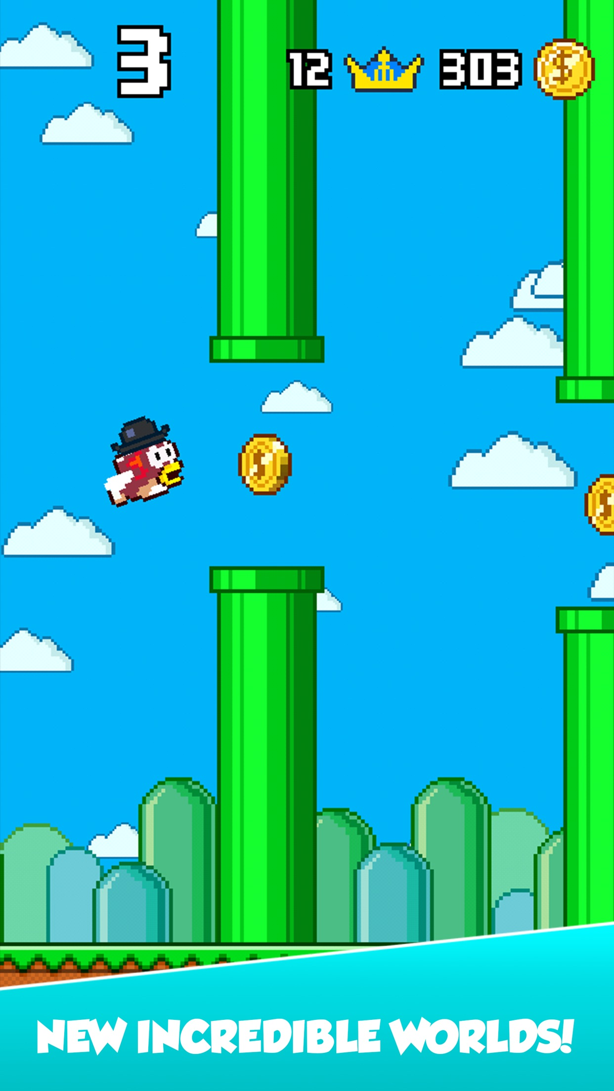 Splashy Fish - Adventure of Flappy Tiny Bird Fish Screenshot