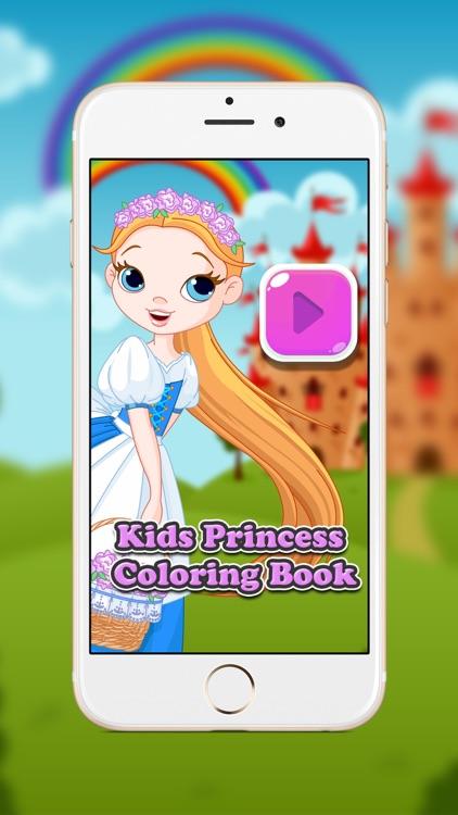 Cute Princess Coloring Book for Kids & Toddlers