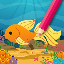 Fish & Sea animals Coloring Book for Kids