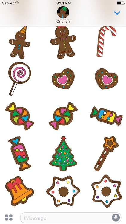 Gingerbreads with friends - stickers for iMessage screenshot-3