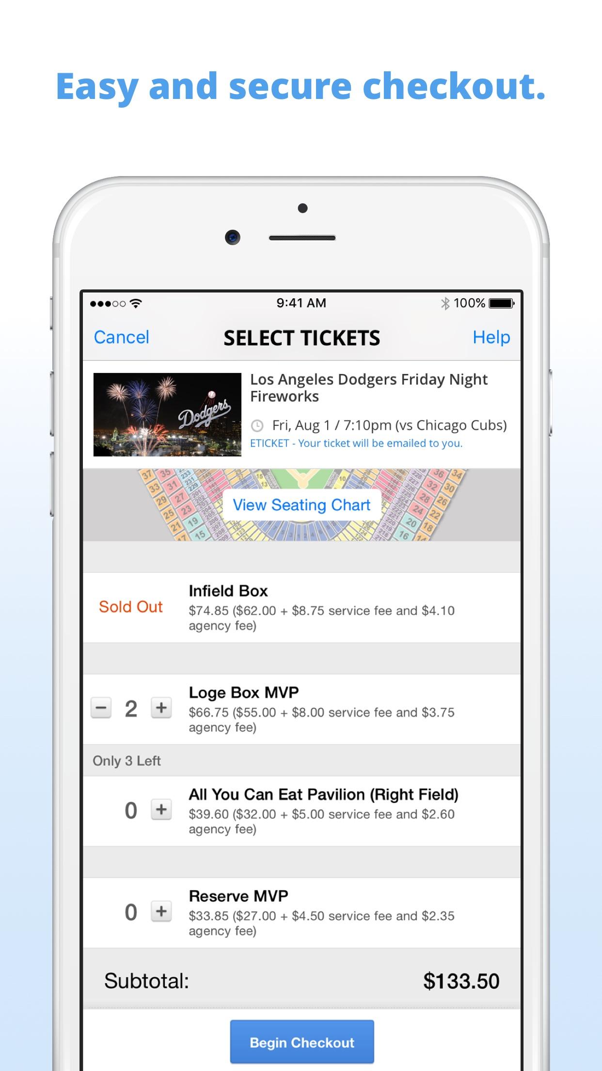 Goldstar Events Screenshot