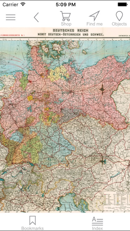 Germany 1903. Historical map.