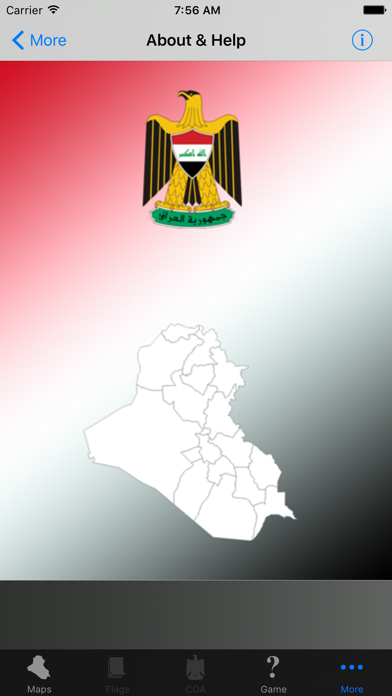 Iraq State Maps and Capitals screenshot two