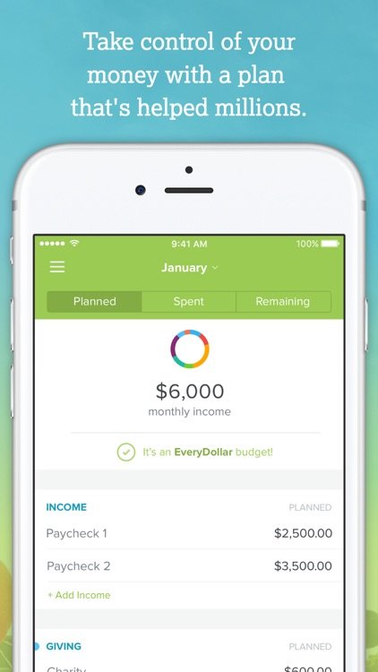 EveryDollar: Budget, Manage Money, Track Spending