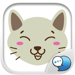 Smiley Cat Feeling Ver.3 Sticker By ChatStick