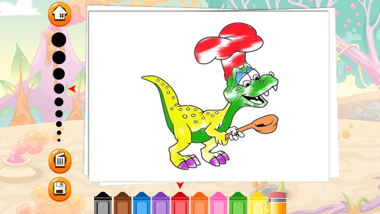 Dinosaur Coloring Page For Kids Education Game screenshot-4