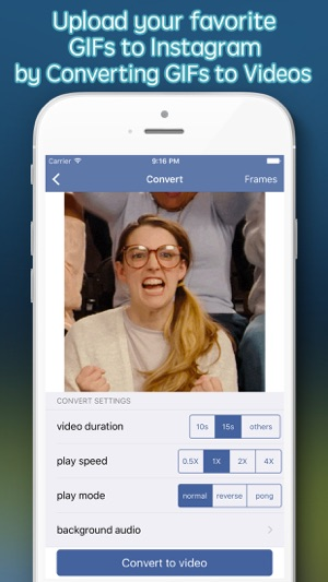 GIF Upload for Instagram - upload your gifs to Ins Screenshot