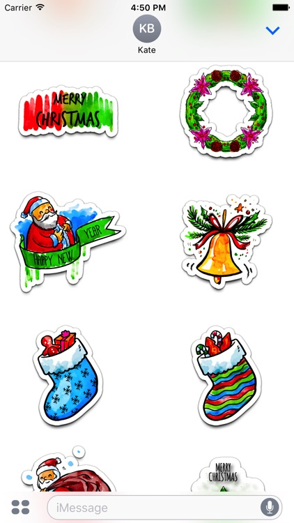 Watercolor Christmas Stickers Vol. 2