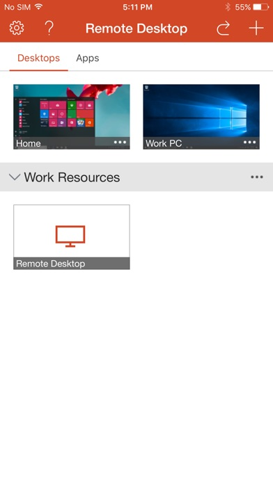 Microsoft Remote Desktop iPhone