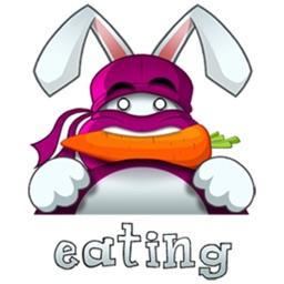 Cute Ninja Rabbit stickers by CandyASS