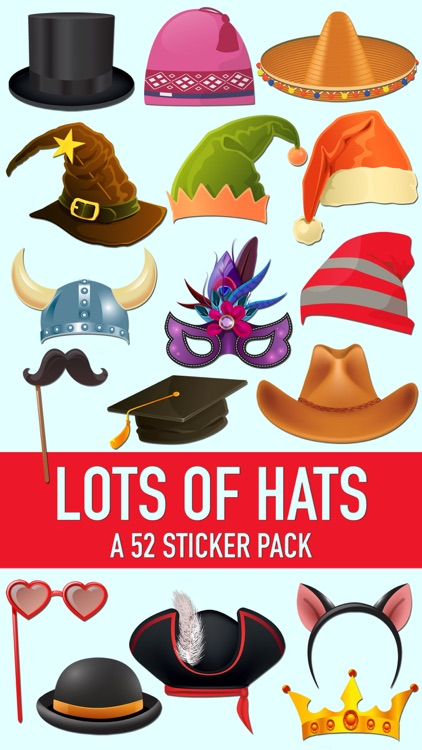 Lots of Hats and Fun Disguises Sticker Pack