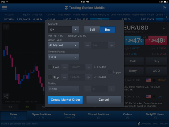 FXCM Trading Station for iPad screenshot four