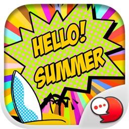 Summer Girl Stickers & Emoji Keyboard By ChatStick