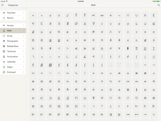 Symbols - unicode keyboard Screenshots