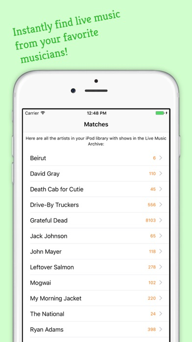 Archivist Live Music Screenshots