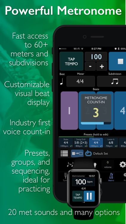 TonalEnergy Tuner & Metronome screenshot-4