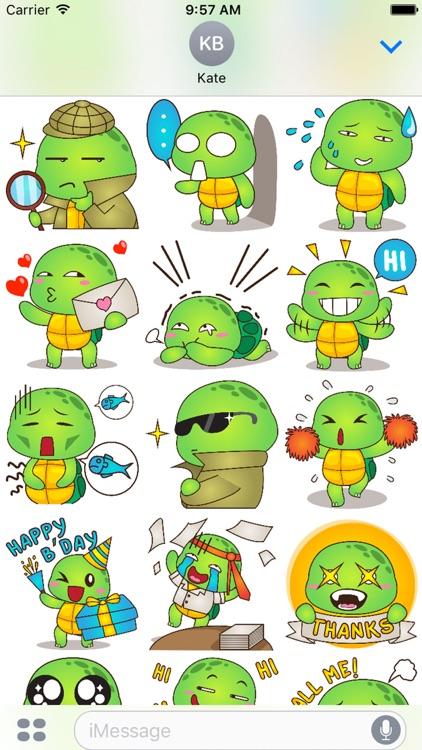 Pura the funny turtle 2 for iMessage Sticker