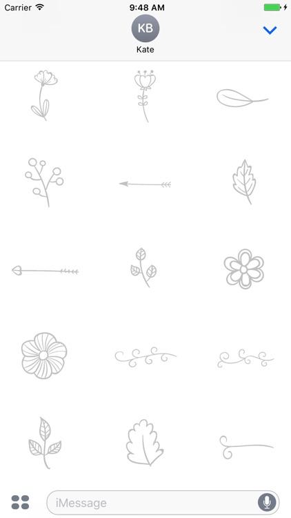 Animated Cute Flower Stickers screenshot-4
