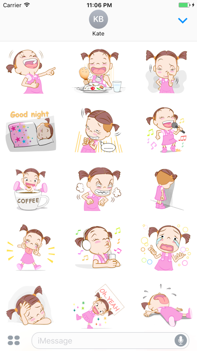 Natalia The Funny Single Girl English Stickers screenshot two