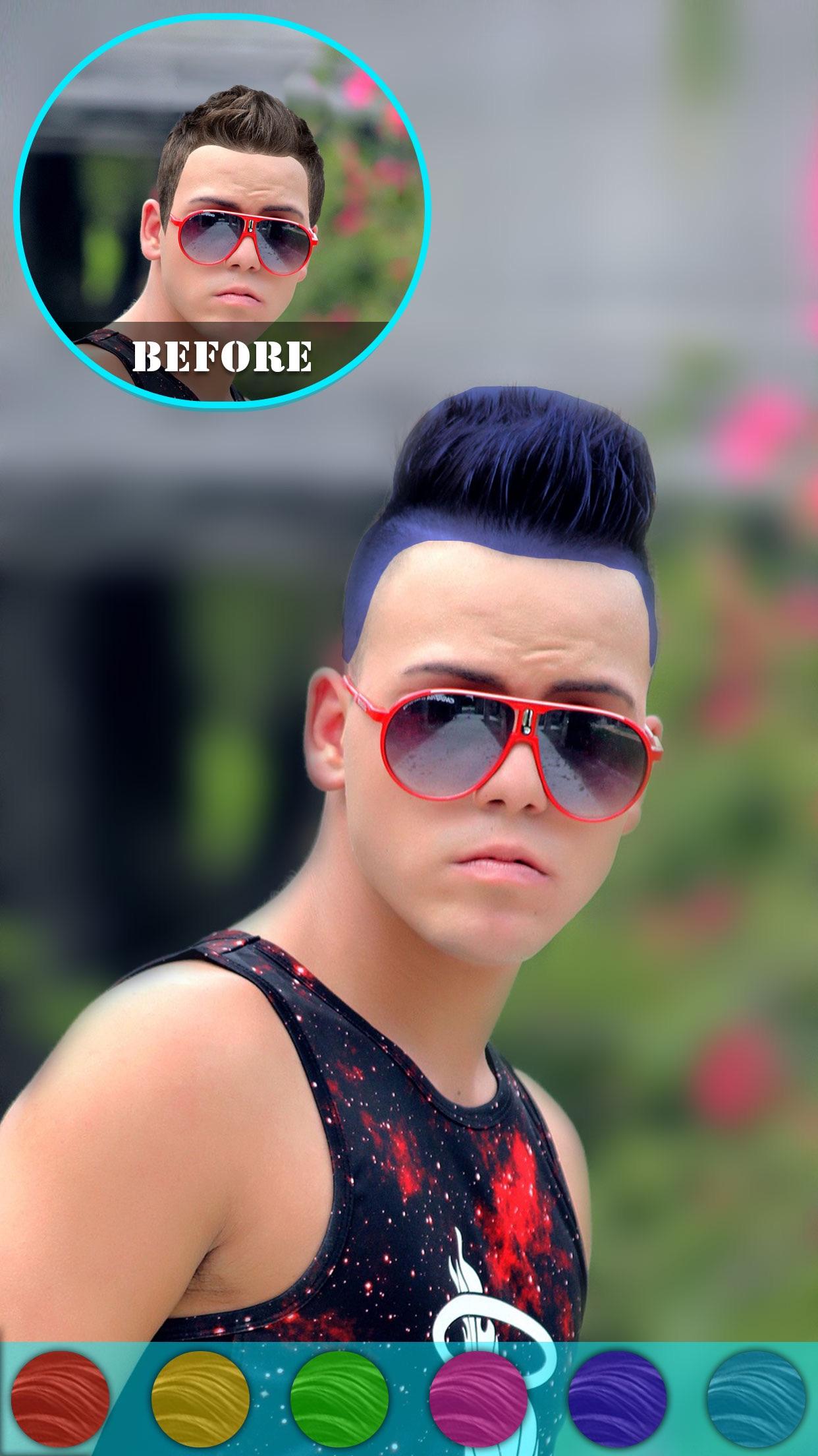 Excellent Men Hairstyle Changer Man Hair Style Photo Booth By Chirag Pipaliya Short Hairstyles Gunalazisus
