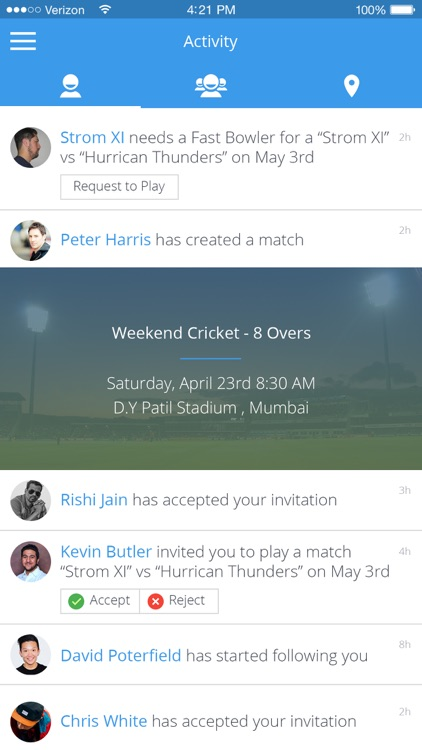 CrickNation - Cricket Finder