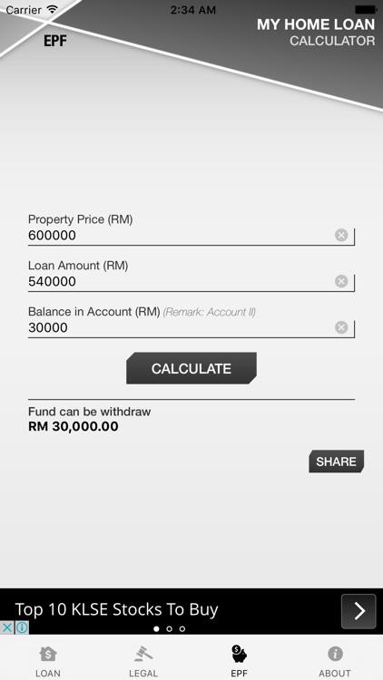 Malaysia Home Loan Calculator screenshot-3