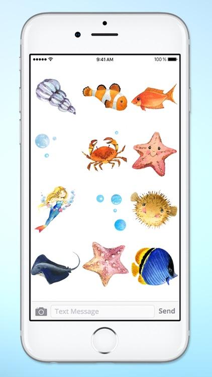 Aquarium Visit Fish and Sea Life Sticker Pack screenshot-3