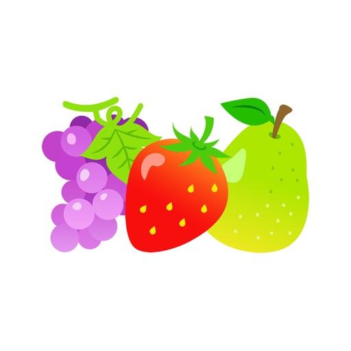 Nette Frucht Aufkleber