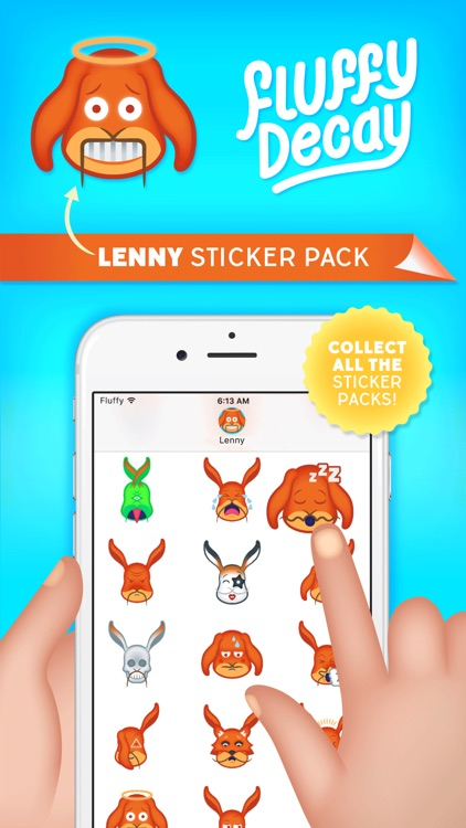 Fluffy Decay Lenny Sticker Pack