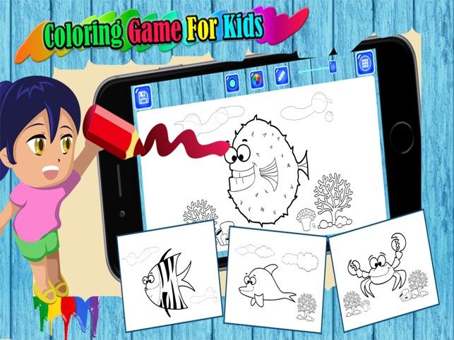 La búsqueda de peces Guppies Coloring Book Games en App Store