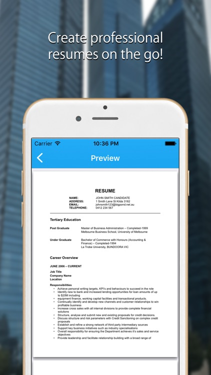 Resume Expert - Pro CV Builder screenshot-0